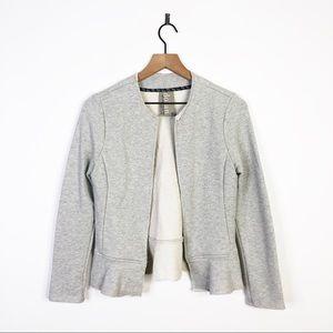 Dolan Anthropologie Open Ruffle Cardigan Sweater